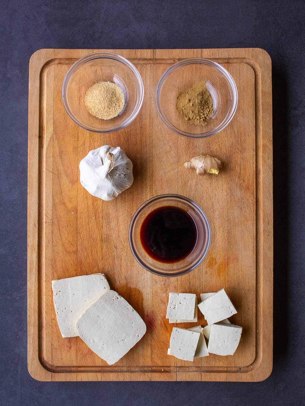 Grilled Tofu Ingredients