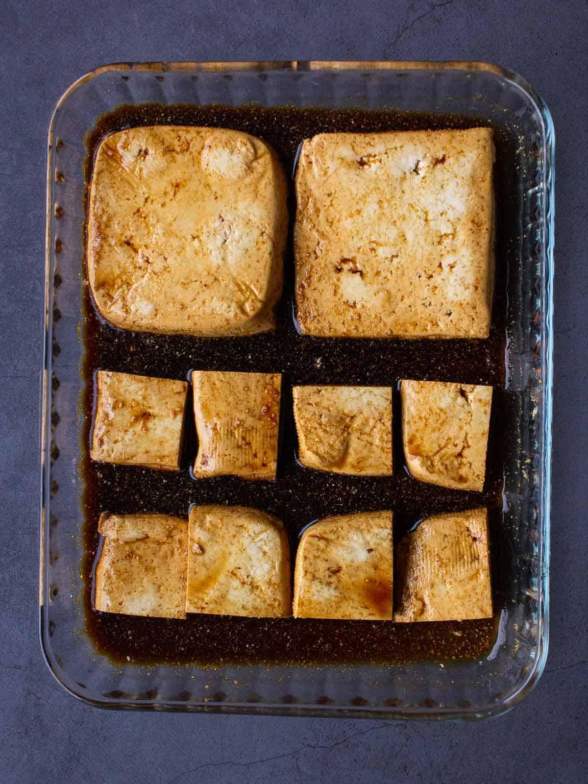 marinating extra firm tofu
