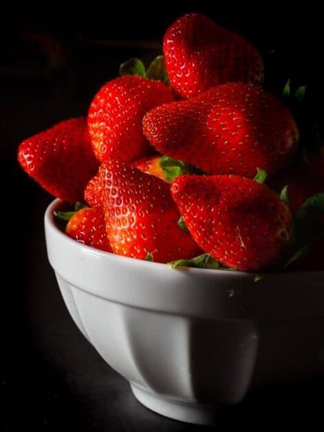 Strawberries bowl