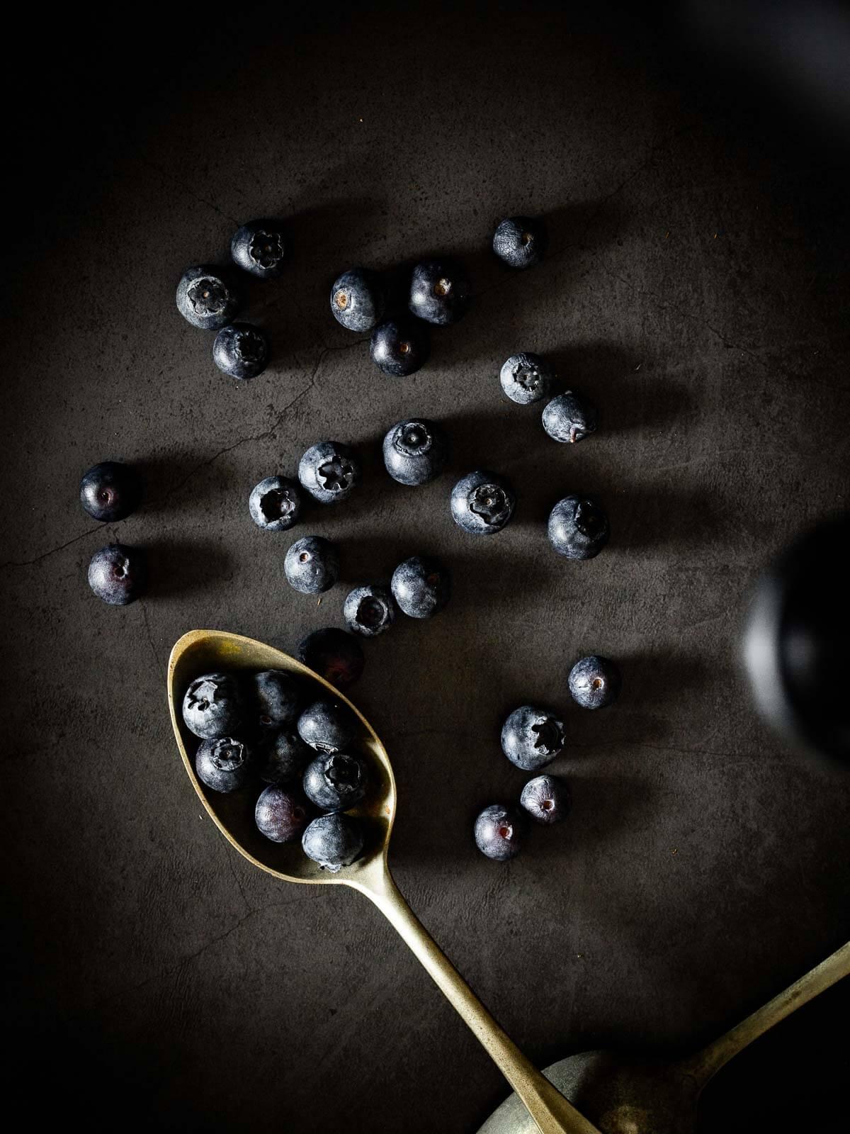 Spoon of Blueberries