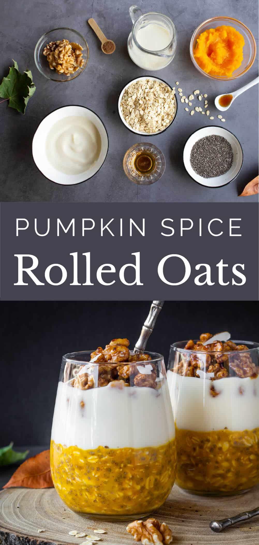 overnight pumpkin oats dairy free