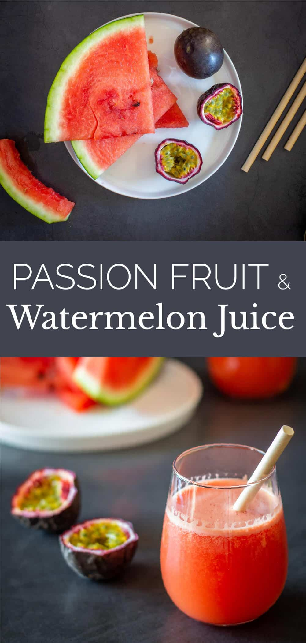 Passion Fruit and Watermelon Juice glass