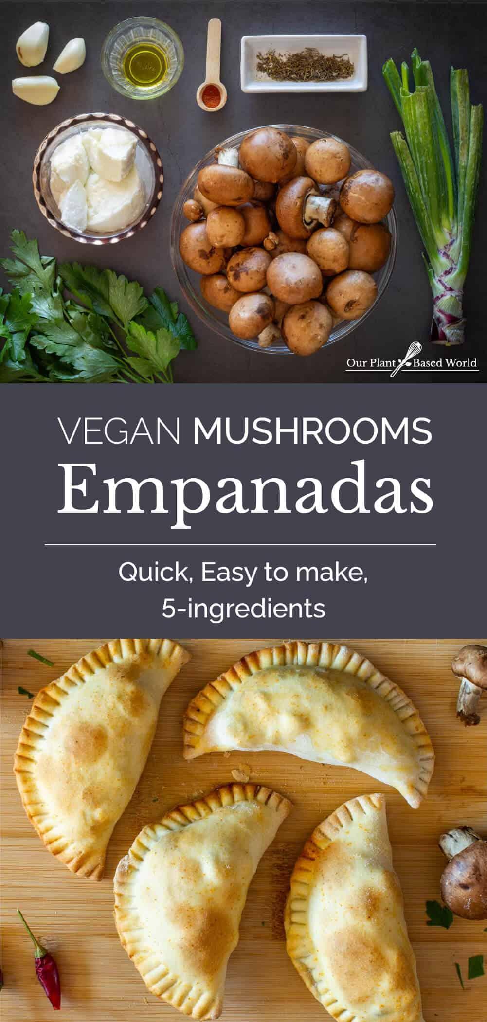 Mushrooms Empanadas served