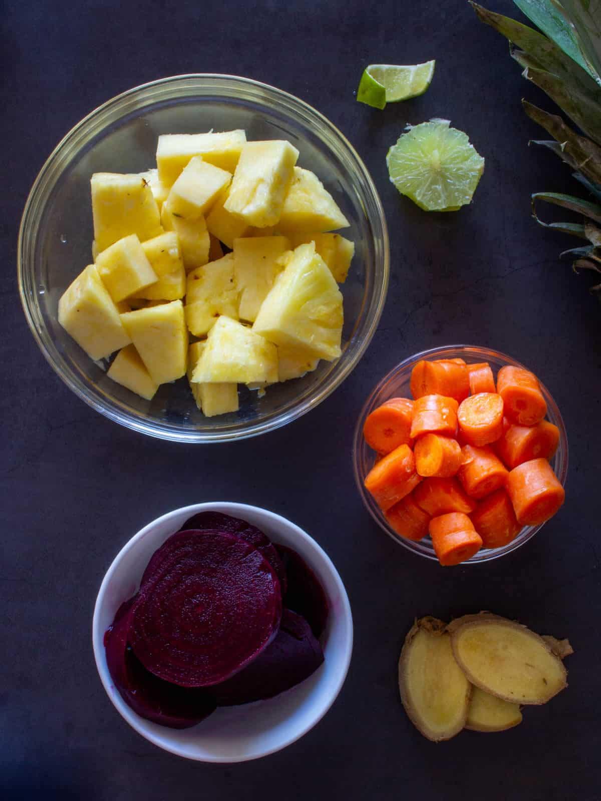 Beetroot Detox Juice chopped produce