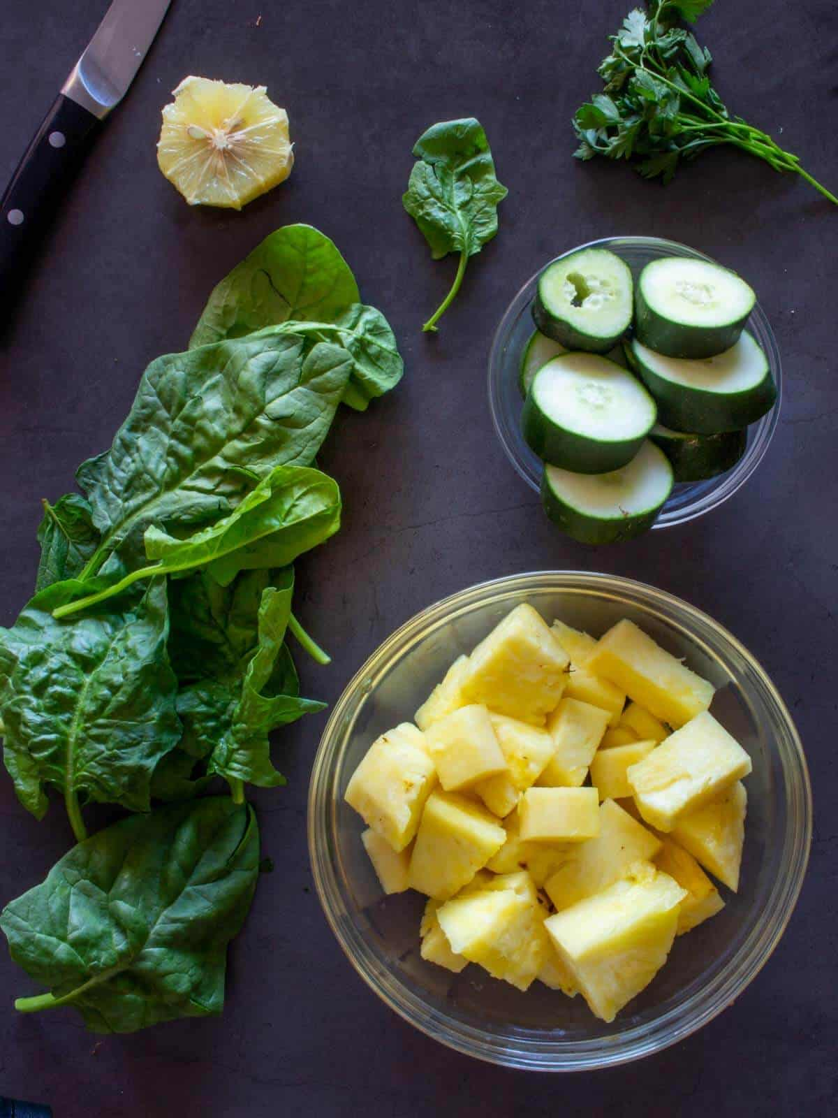 Weight Loss Juice chopped ingredients