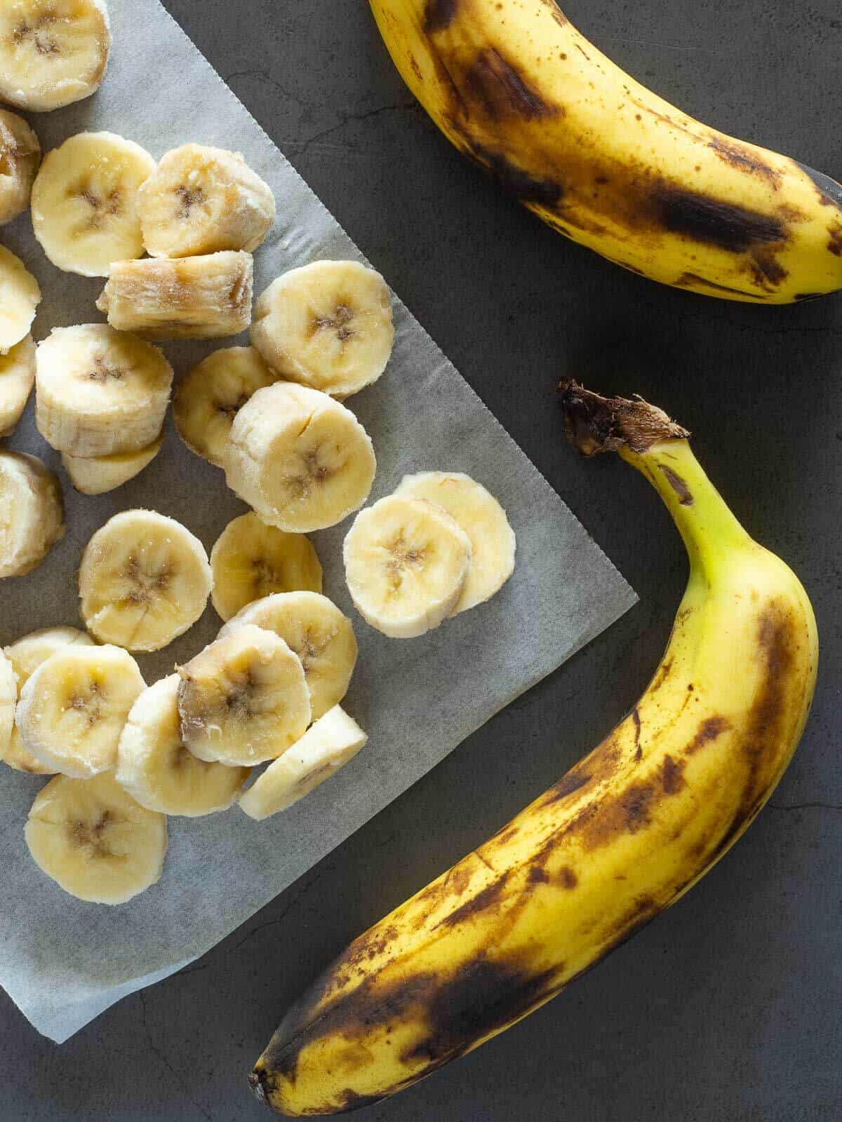frozen bananas for peanu banana ice cream