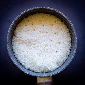 Jasmine Rice in a pot