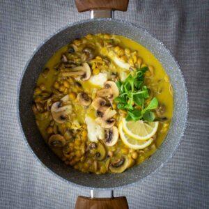Saffron Garbanzo Beans featured