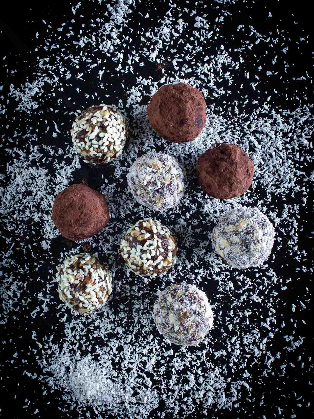 Healthy Vegan Truffles Variations