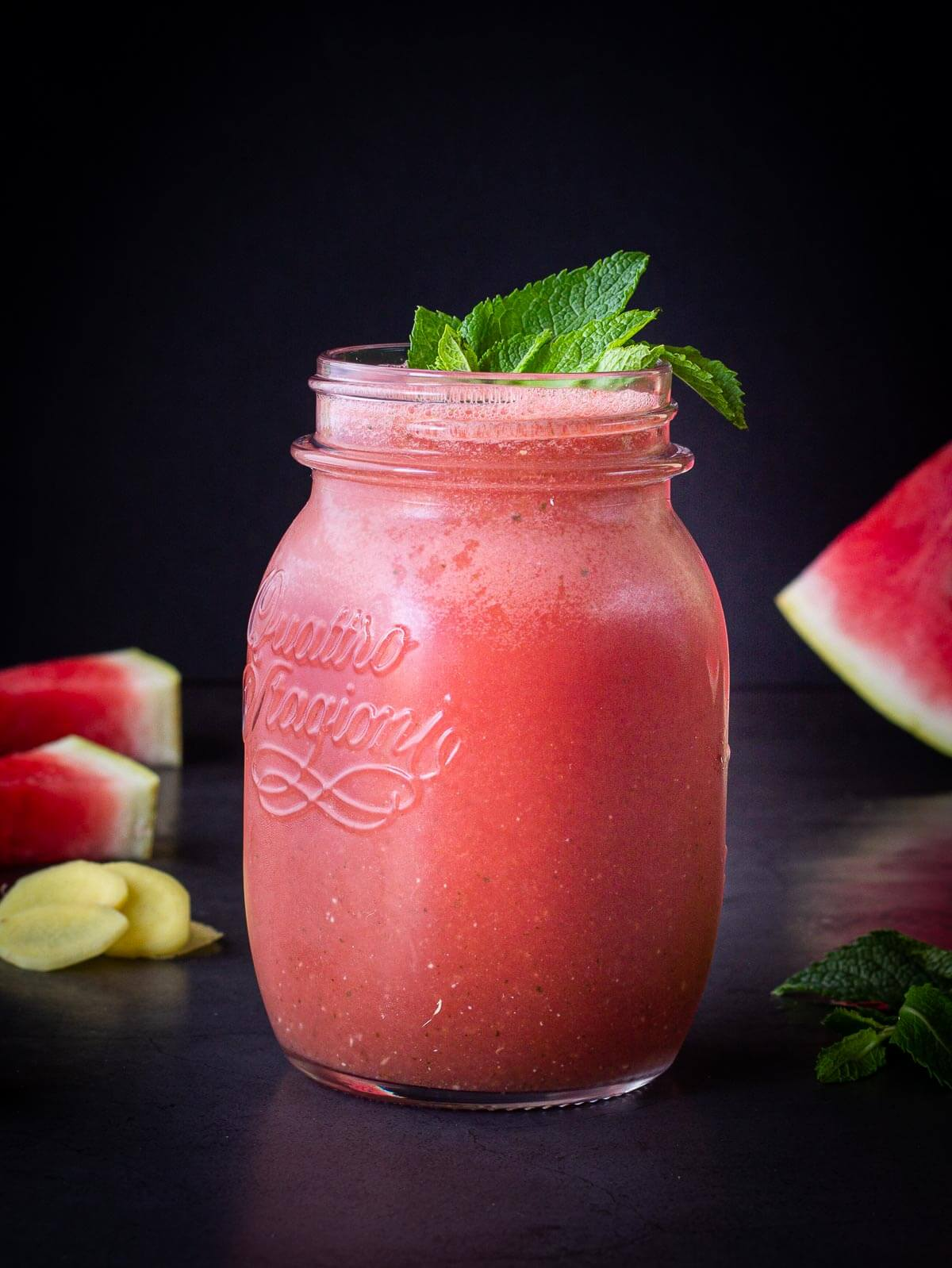 Watermelon Smoothie in glass