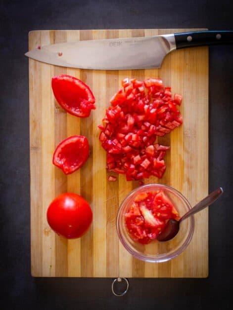 Cored Plum Tomatoes