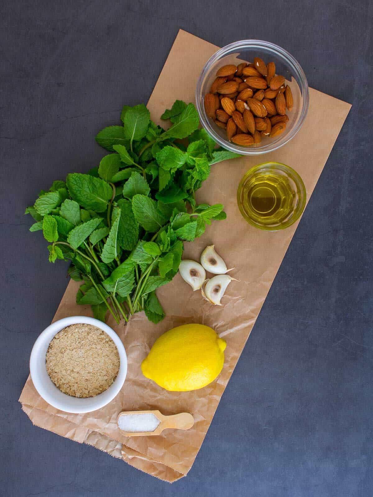 mint pesto ingredients