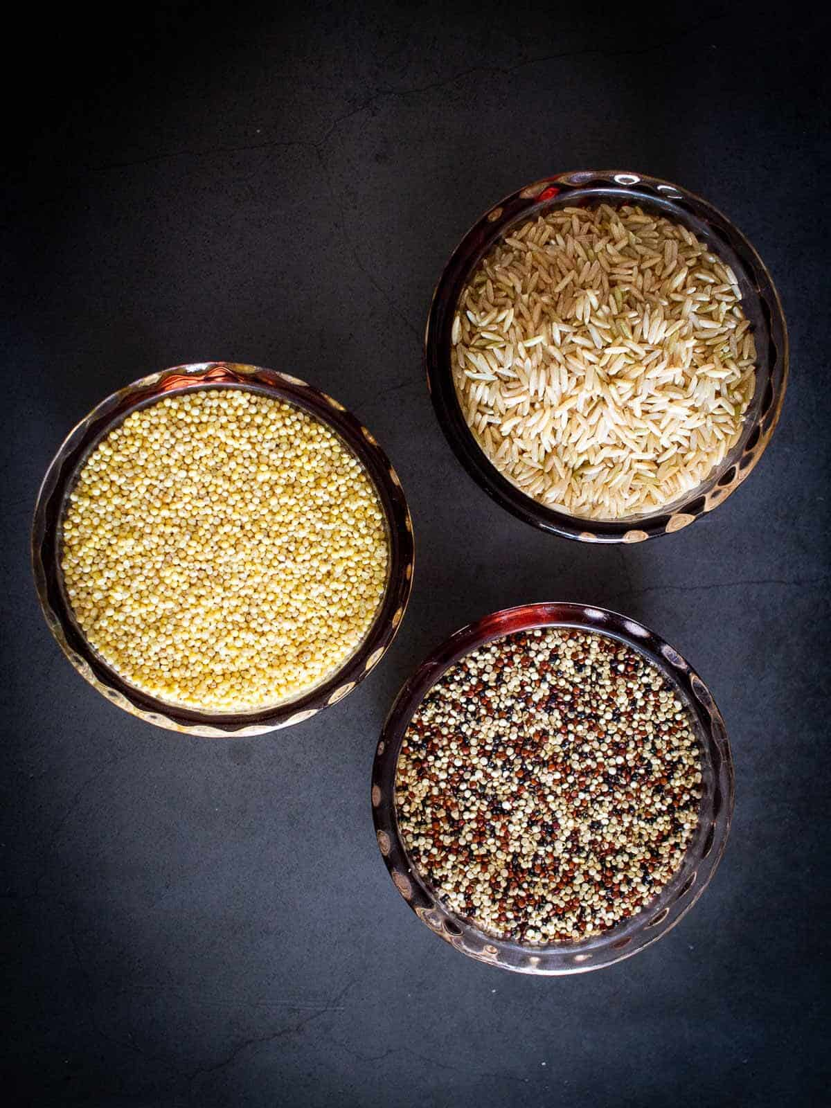 poke bowl grains options