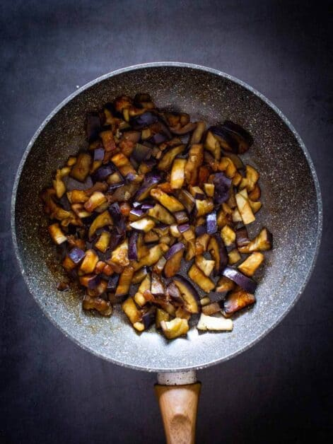 eggplant sauteed in soy sauce