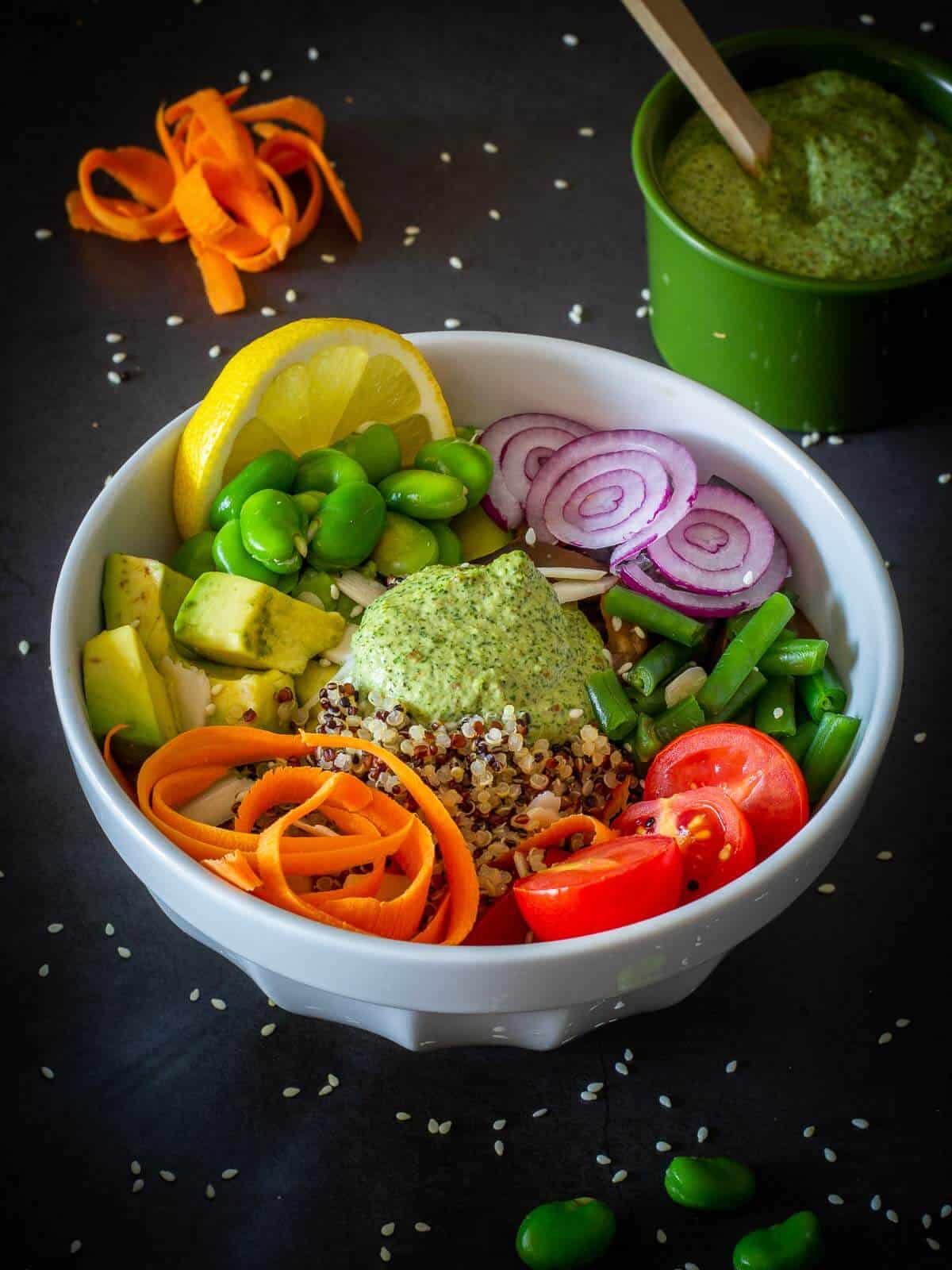Vegan Poke Bowl with Mint Sauce
