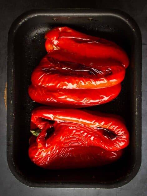 muhammara-dip peeled red-bell peppers