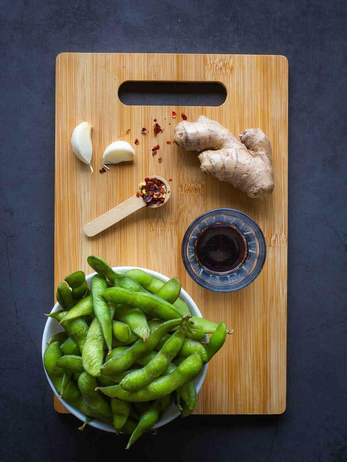 Garlic Edamame Ingredients
