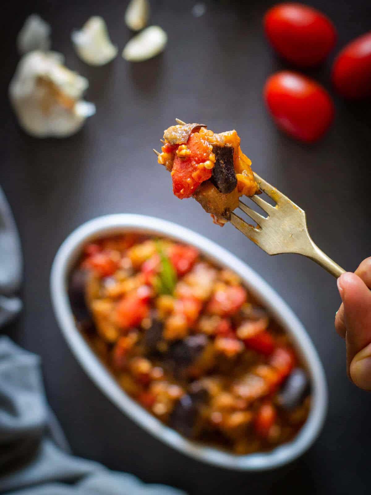 Bite of Italian Eggplant stew