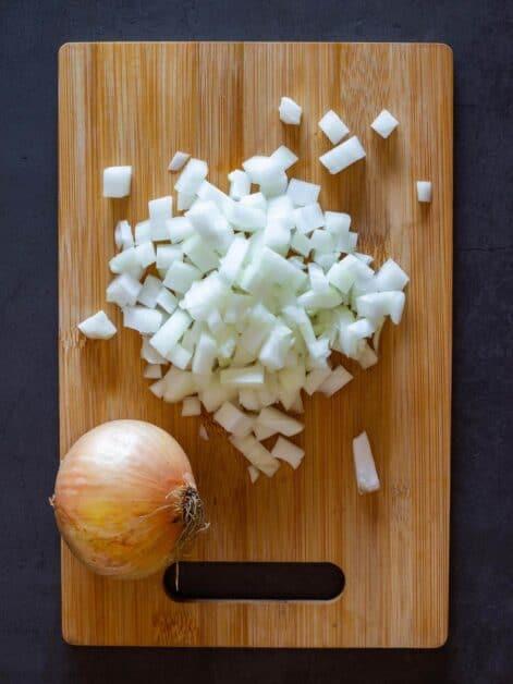 diced onion