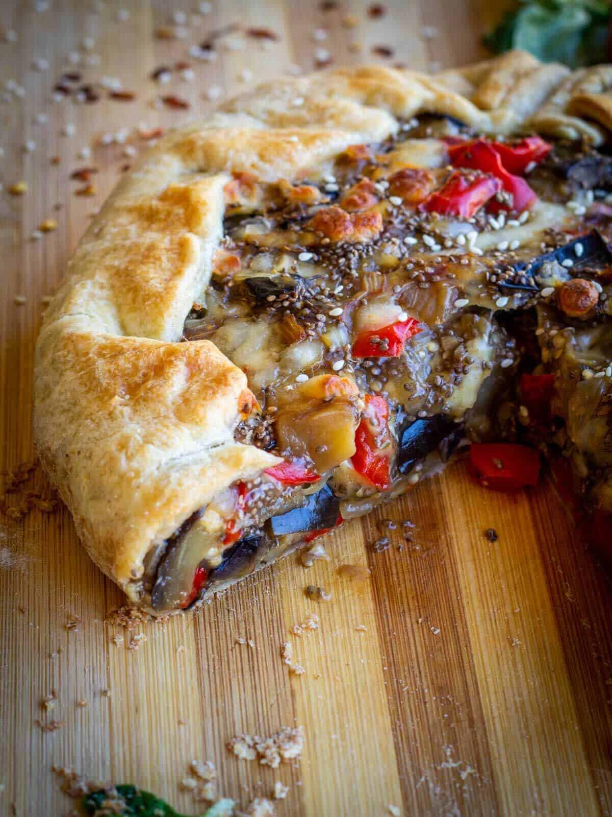 Vegan Eggplant Pie portion