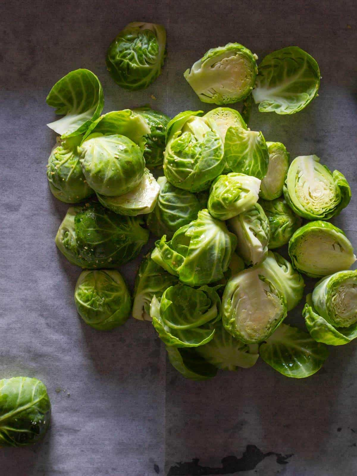 raw brusssels sprouts