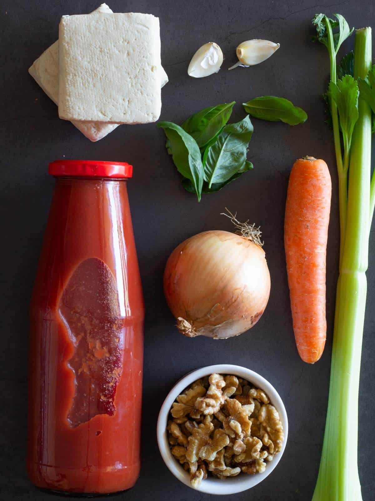 Tofu Ragout ingredients