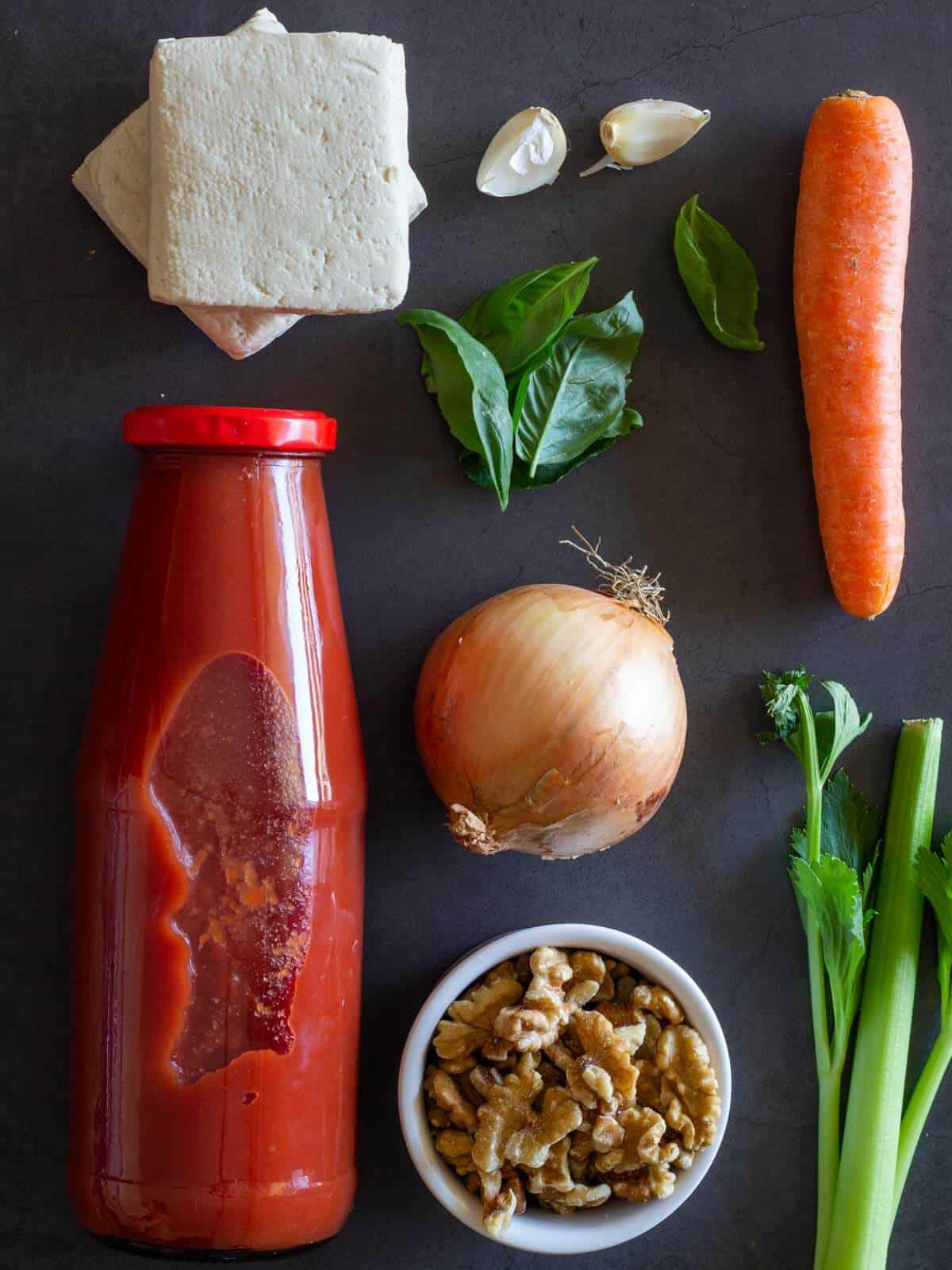 Vegetable Bolognese Ingredients