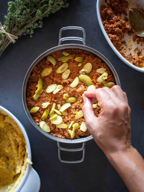 Vegan Baked Polenta Recipe with Tofu Ragout