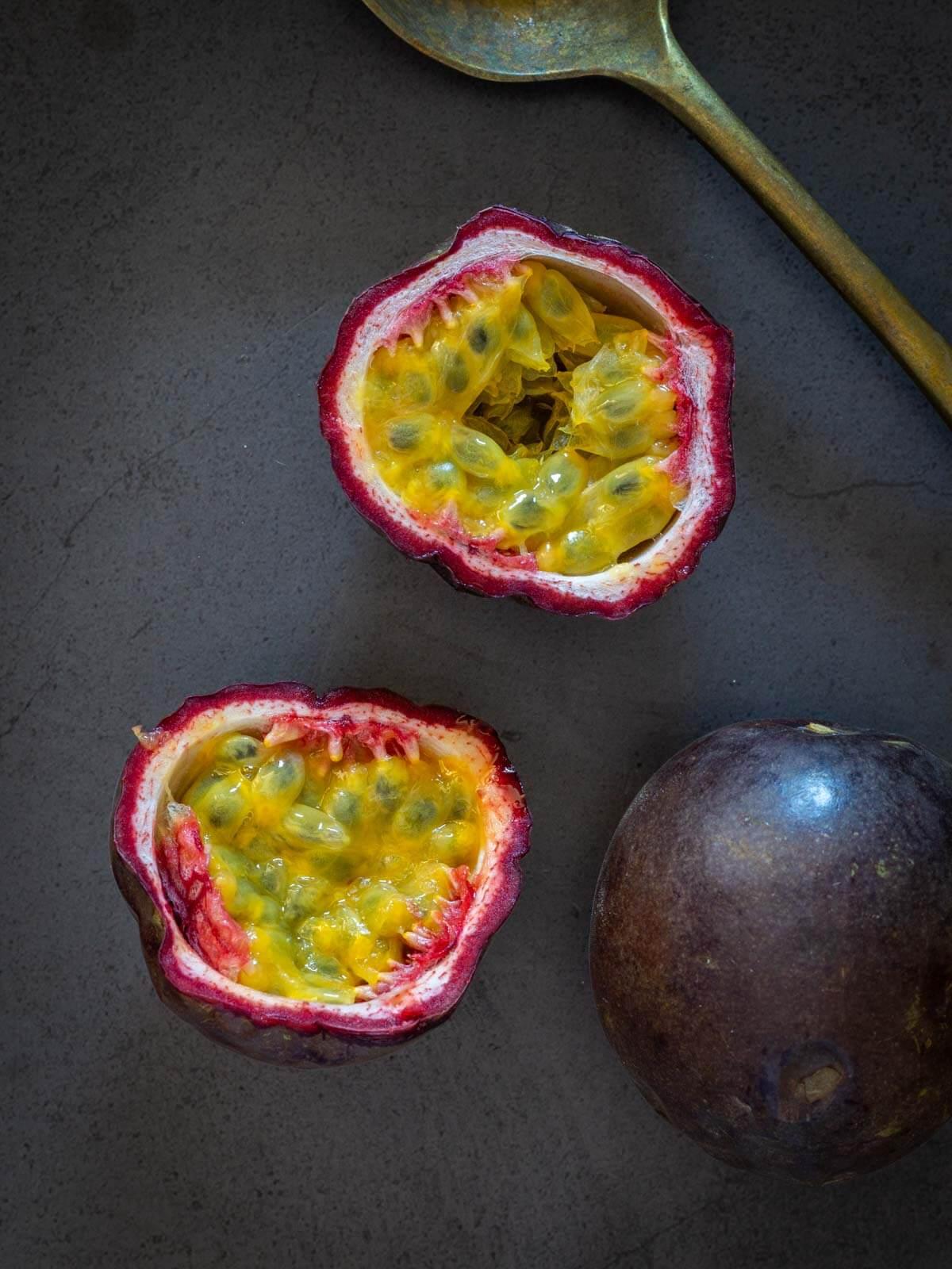 open passion fruit