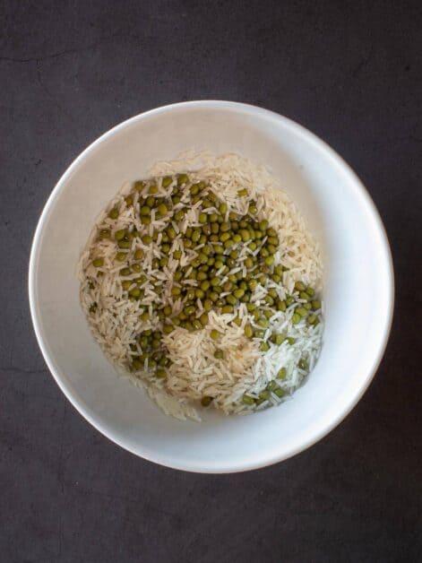moong beans and basmati rice