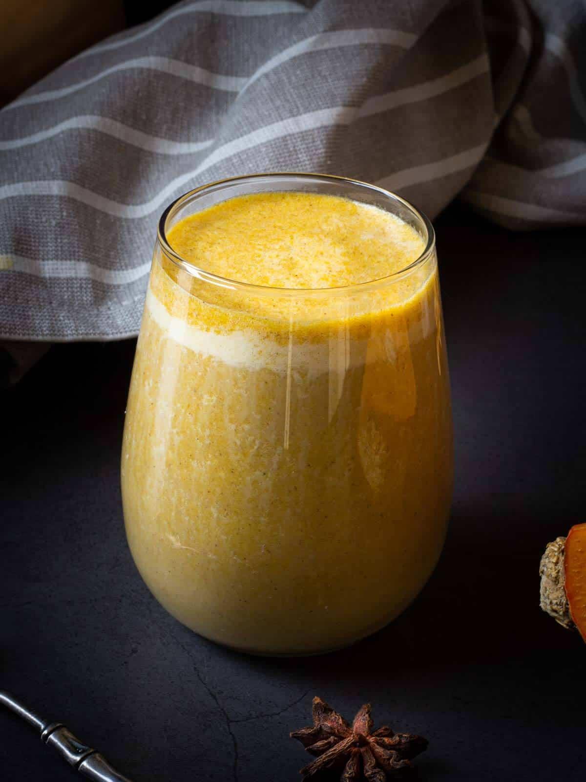 pumpkin spice latte served with pumpkin pie