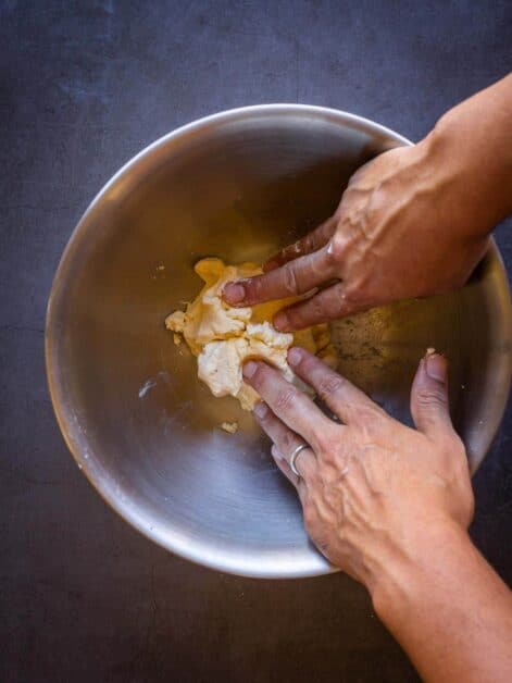 knead in the bowl