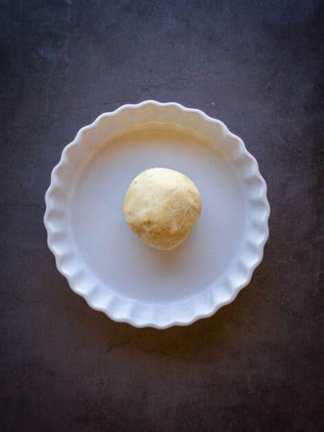 vegan no-roll-pie crust dough
