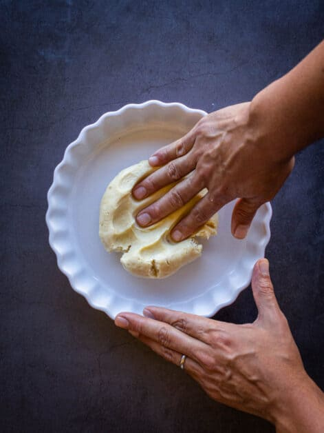 stretching vegan pie crust