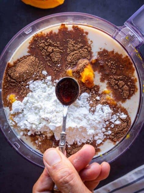 making pumpkin pie filling add vanilla