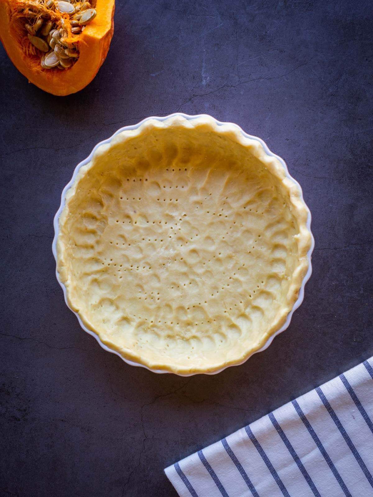 vegan no-roll pie crust