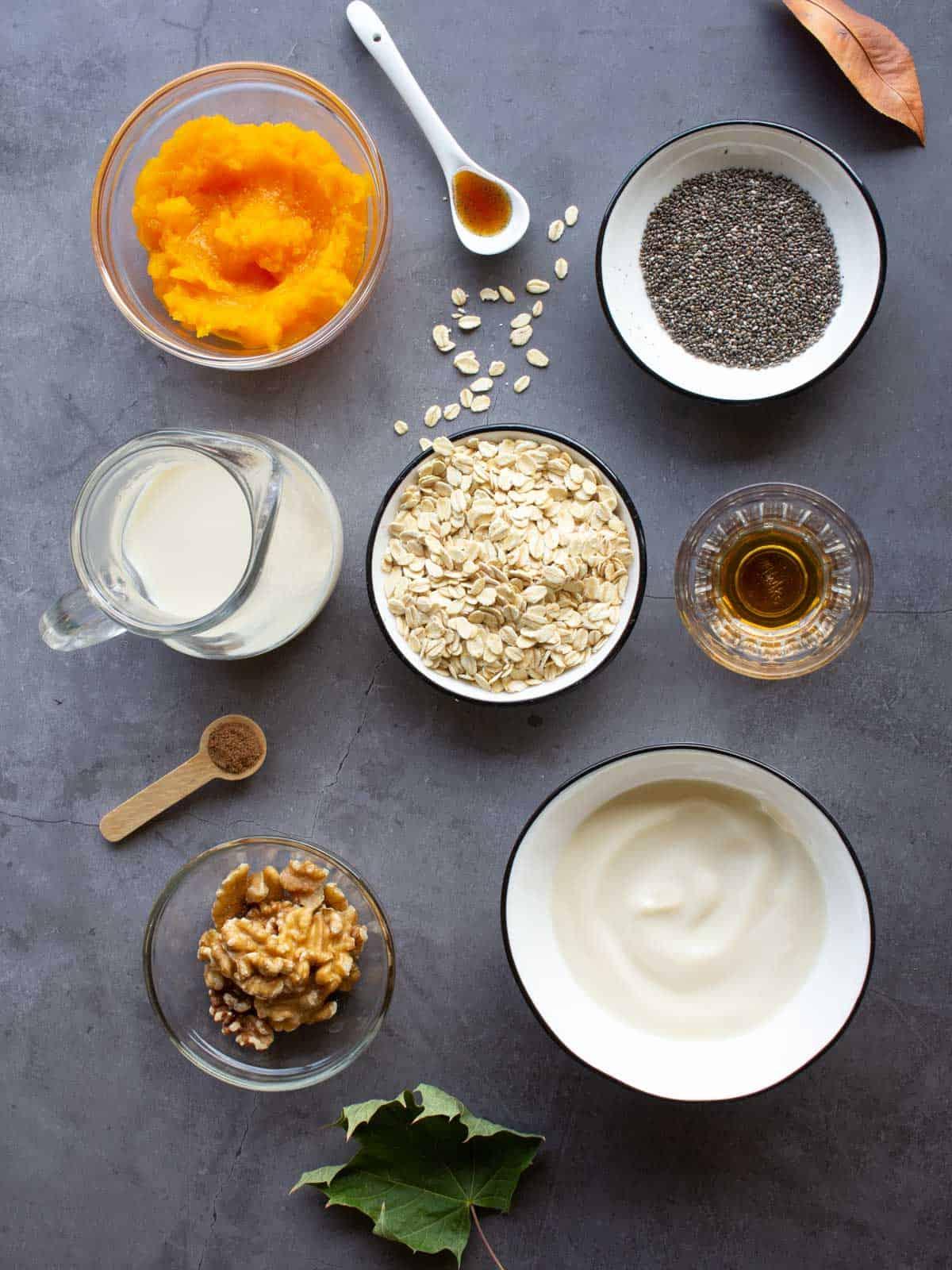 overnight pumpkin oats dairy free ingredients