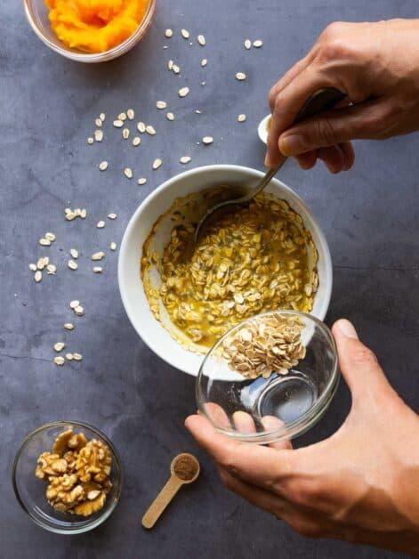 overnight pumpkin oats dairy free mix