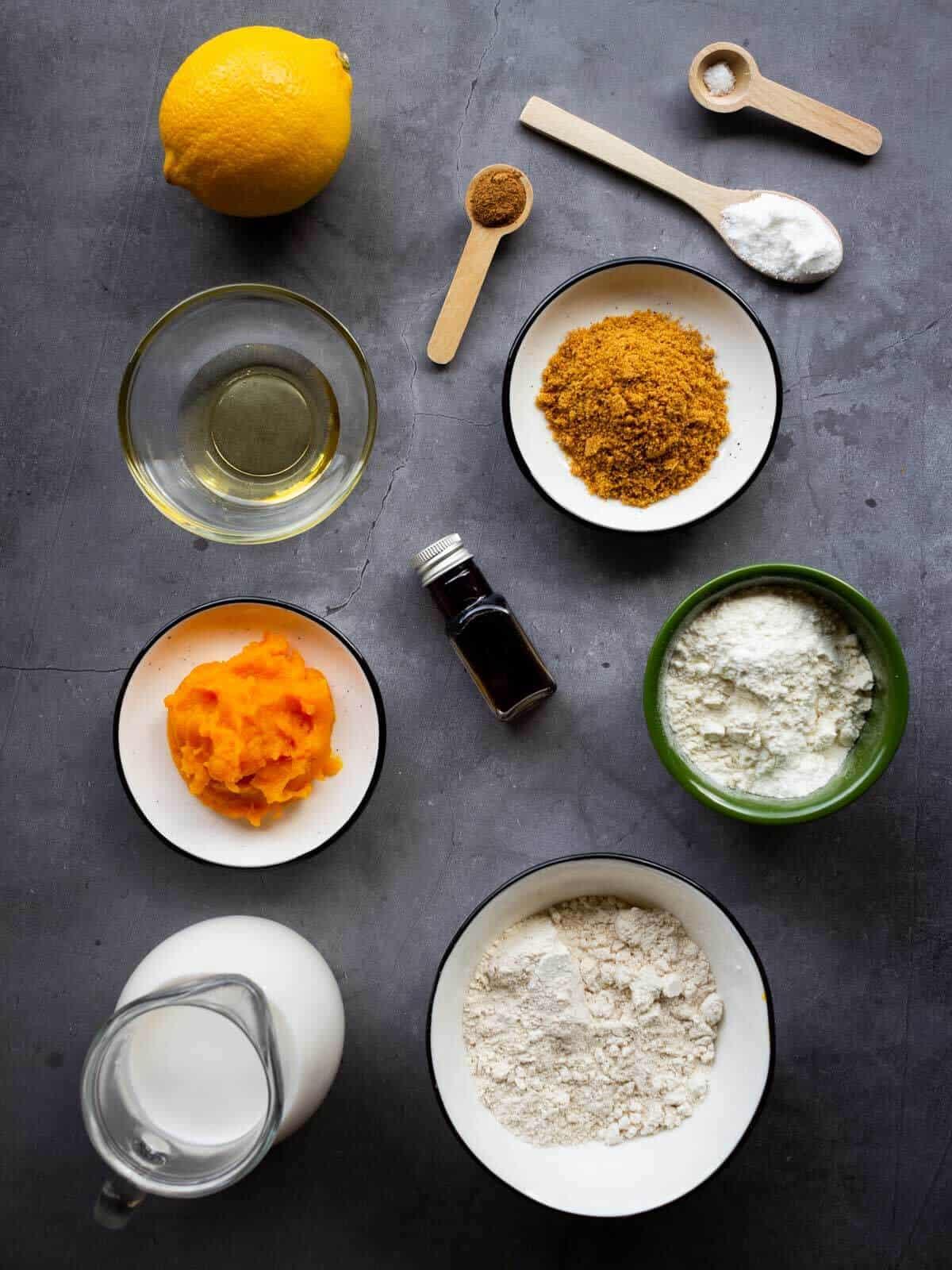 vegan pumpkin pancakes ingredients