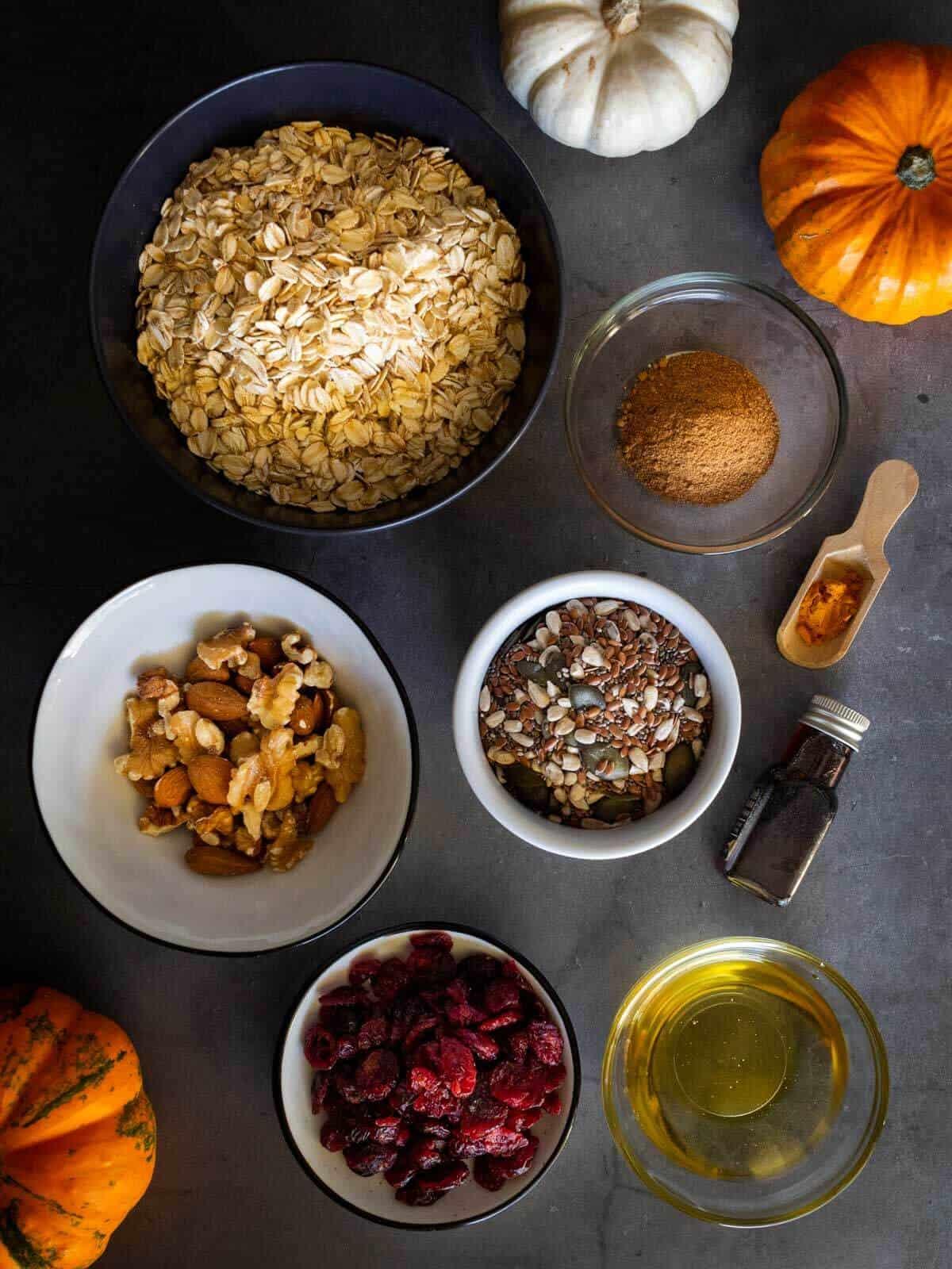 Pumpkin Maple Granola Recipe Ingredients