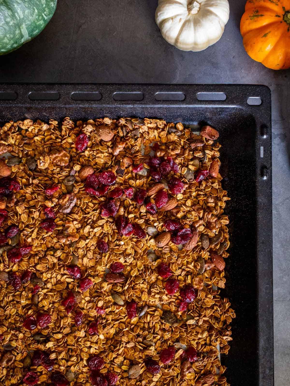 adding cranberries