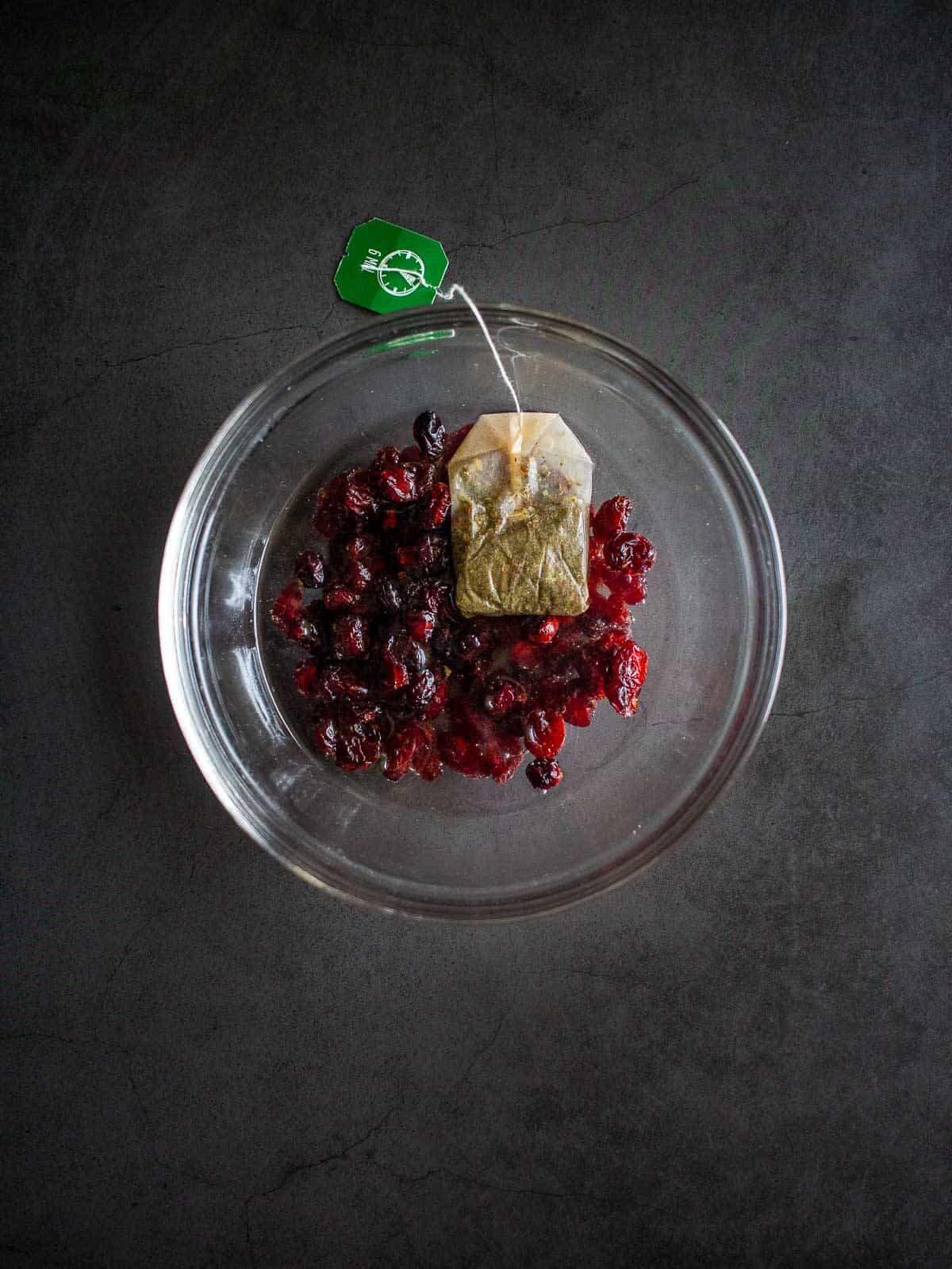 Cranberry Sauce with tea bag