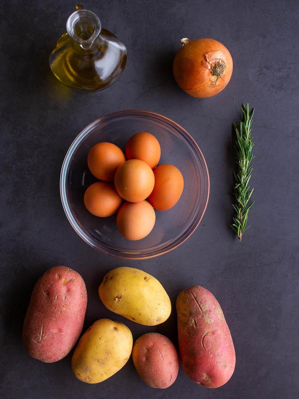 Spanish Omelette Ingredients