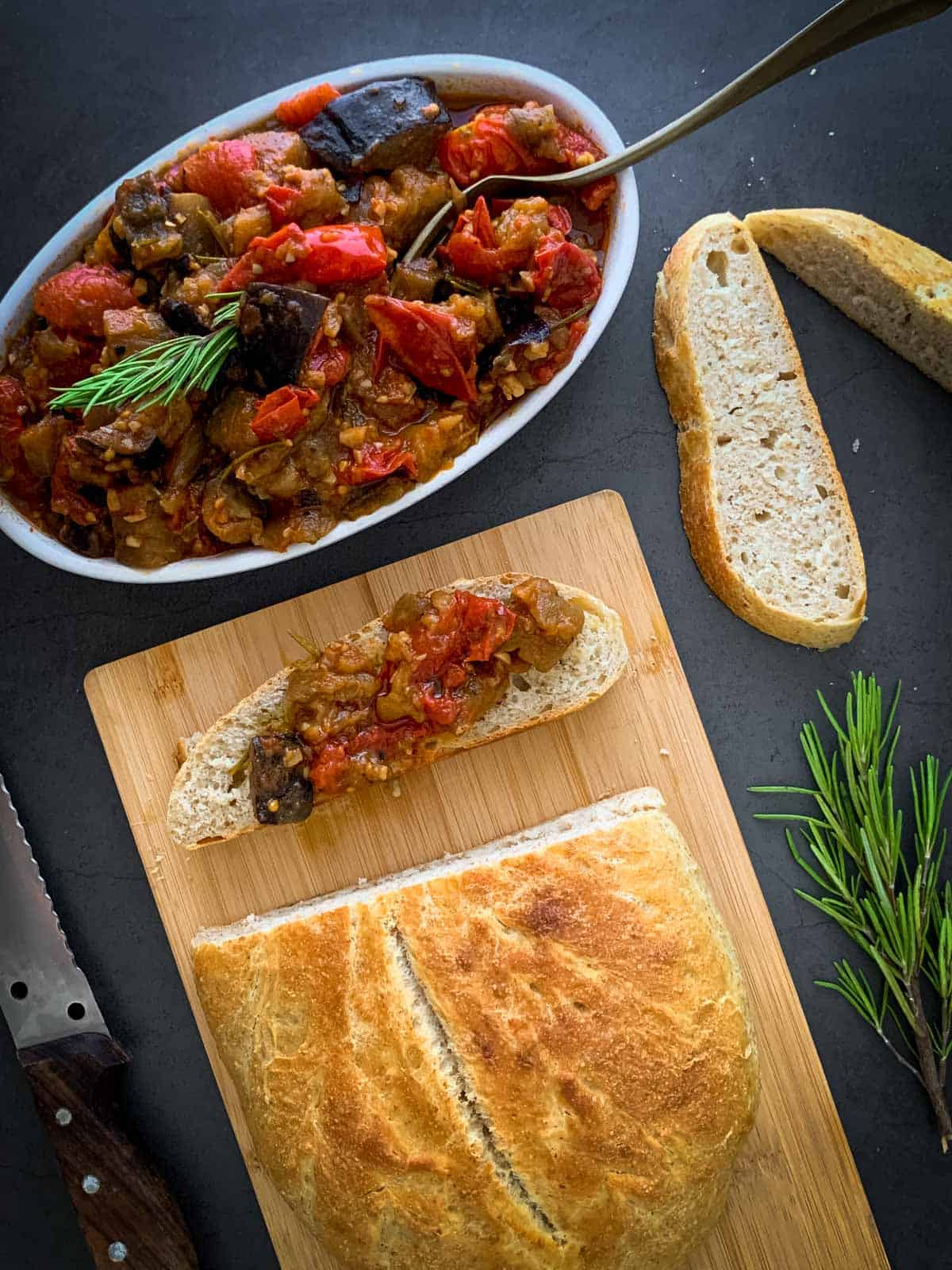 Italian Eggplant served with bread