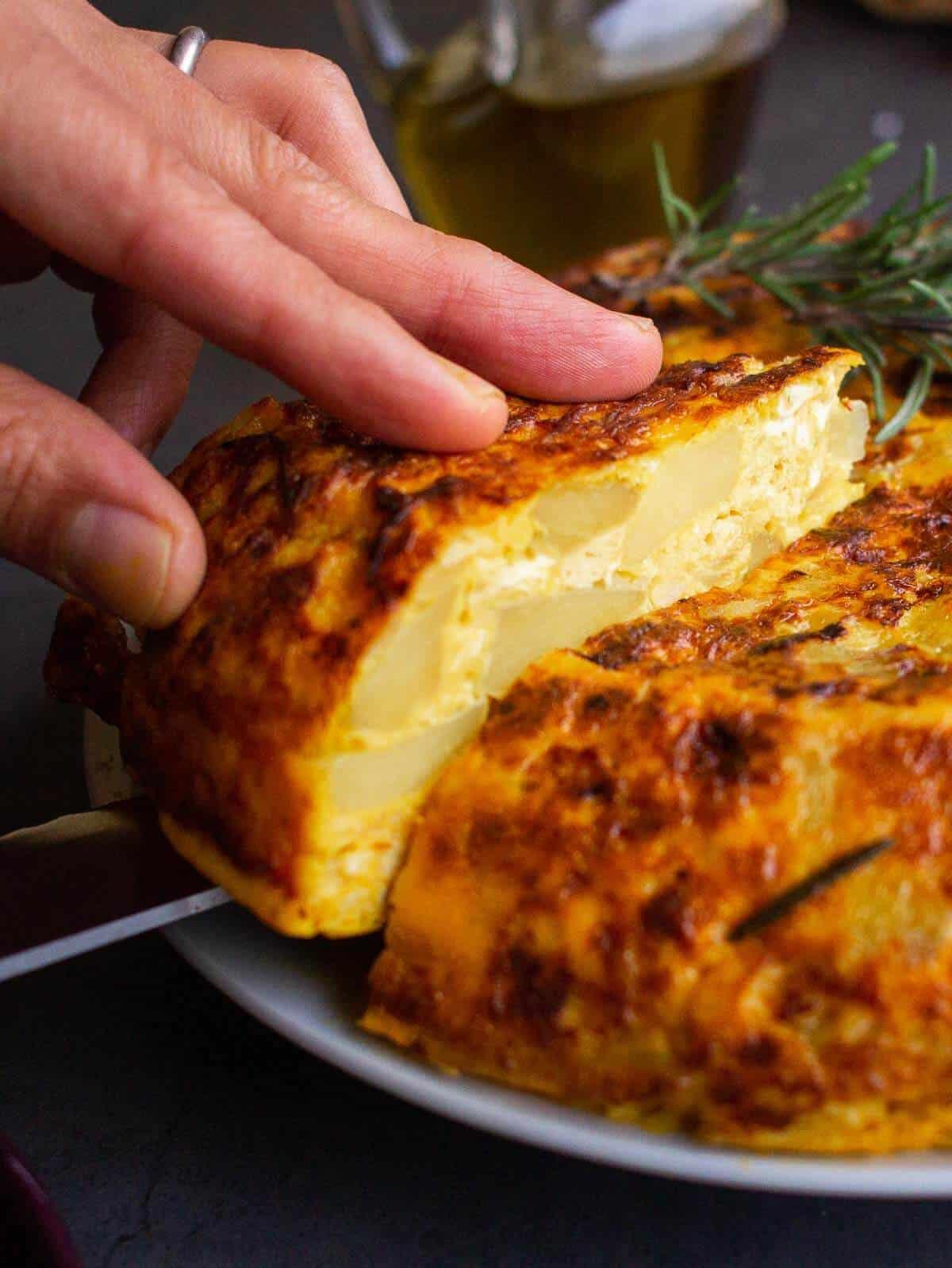 Spanish Omelette Slice