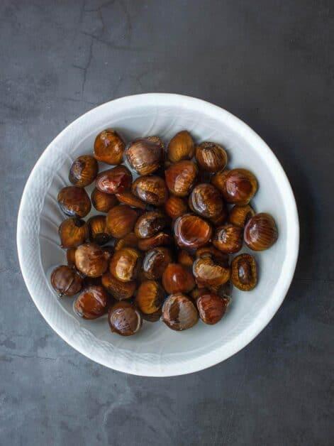 Soaking chestnuts
