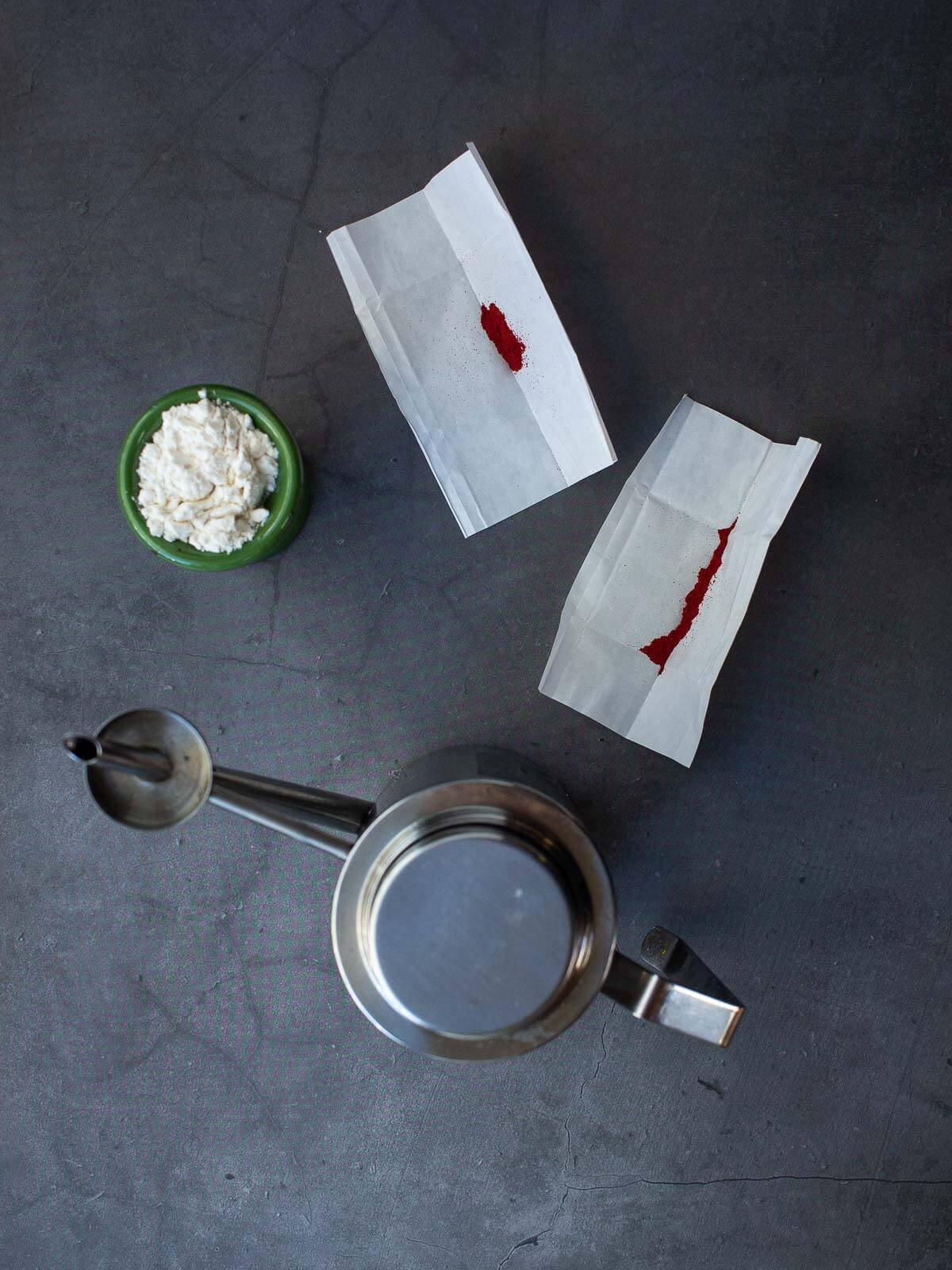 Pangiallo Romano Glazing ingredients