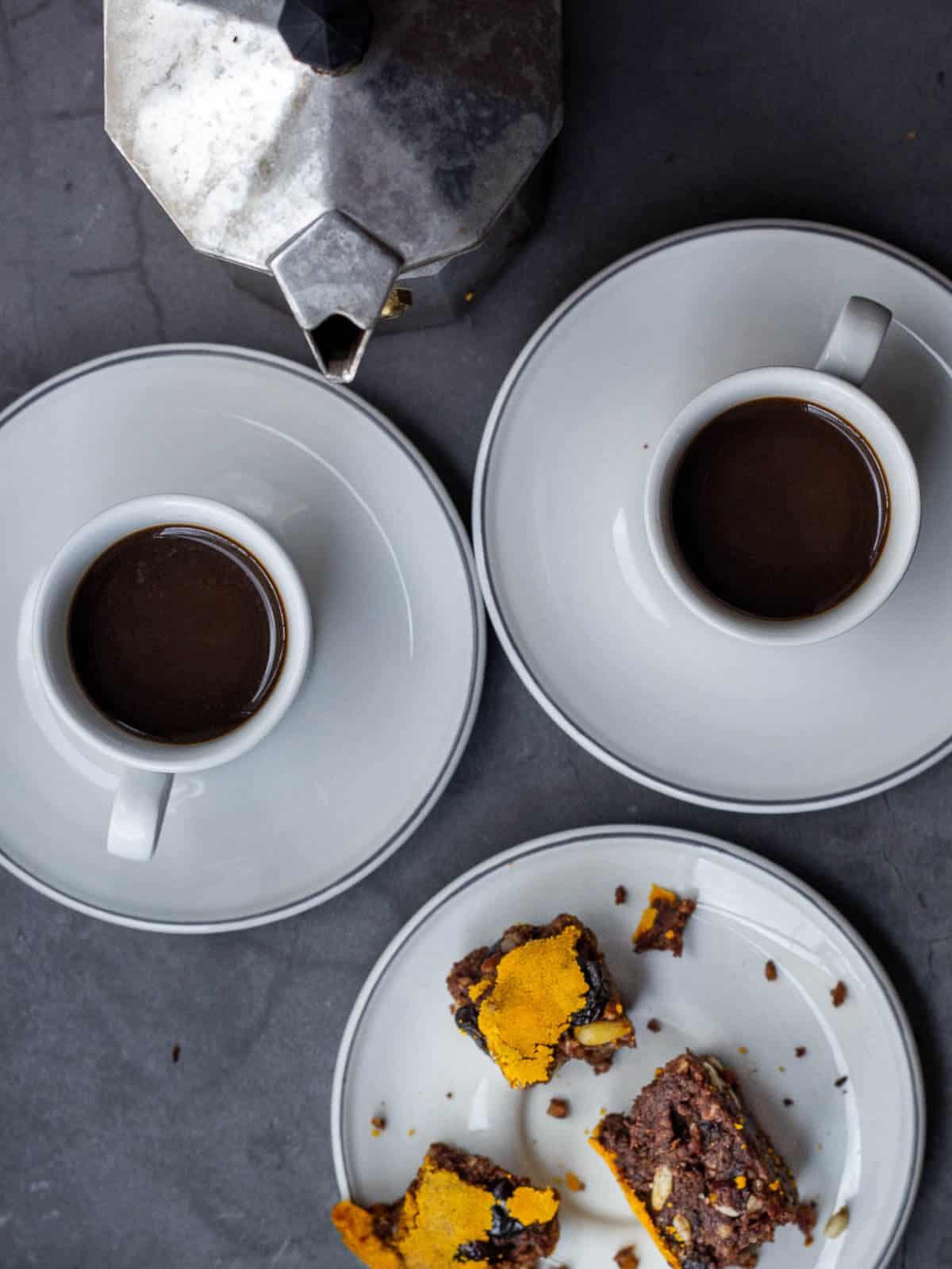 pangiallo romano and coffee