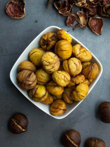 roasted chestnuts featured