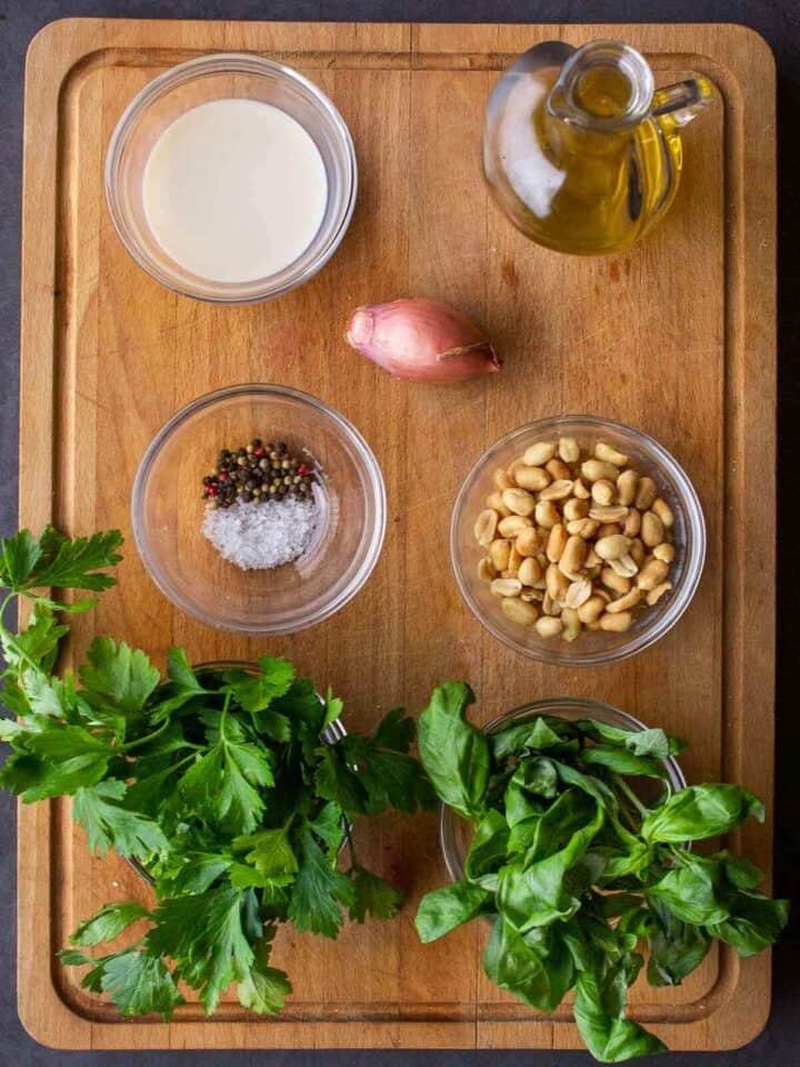 Creamy Vegan Sauce Ingredients